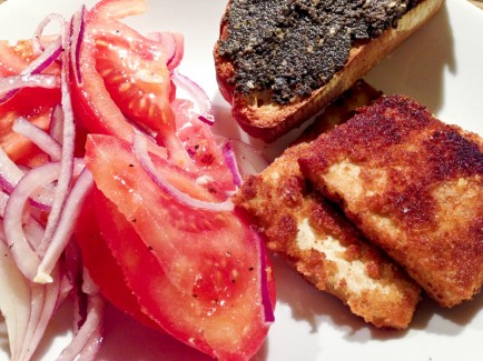 tofu-mit-tomatensalat