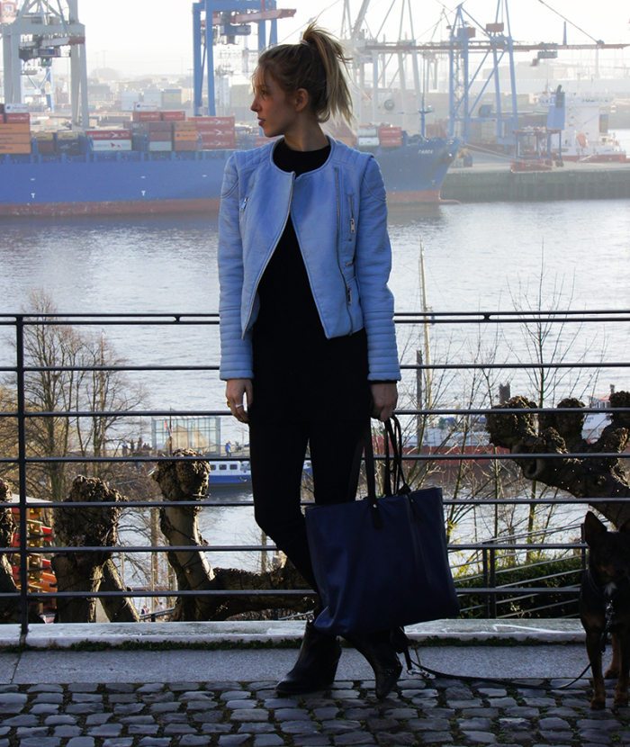 OUTFIT-POST: BLACK AND BLUE