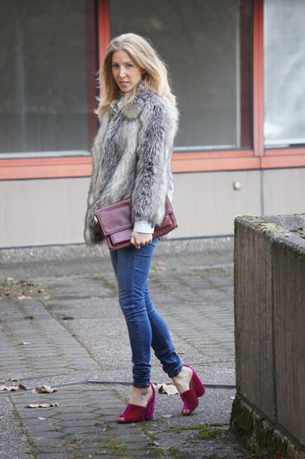 Outfit-Post: Samtschuhe