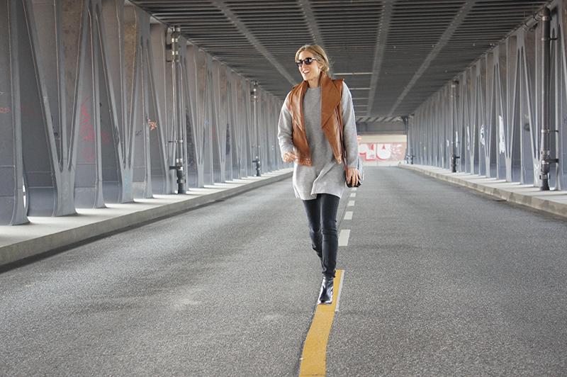Outfit-Post: Lederweste